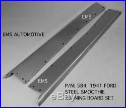 Ford Car Steel Running Board Set 1941 EMS #584 16 Gauge