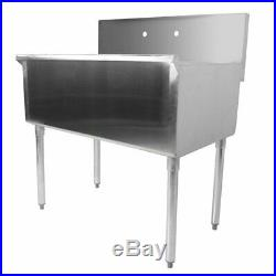 Freestanding Utility Stainless Steel 16-Gauge Commercial Sink 36 X 21 X 14 Bowl