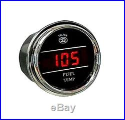 Fuel Temperature Gauge for Any Semi, Pickup Truck or Car, Teltek Brand