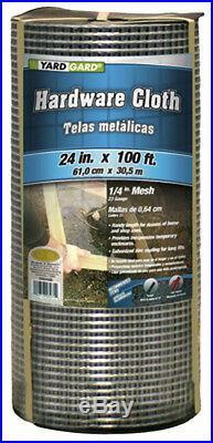 Galvanized Metal Hardware Cloth, 24 x 100', 1/4 Mesh Fencing, 23 Gauge 150052