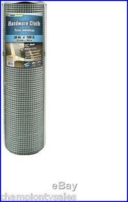 Galvanized Metal Hardware Cloth, 36 x 100', 1/2 Mesh Fencing, 19 Gauge 150029