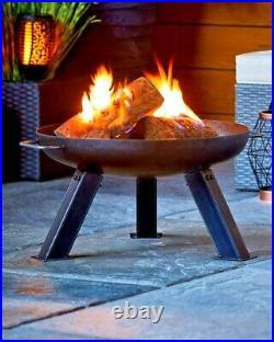 Garden Haven Heavy Gauge Industrial Design Steel Fire Pit Patio Heater 80cm diam