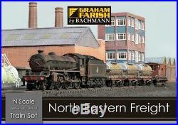Graham Farish 370-090 North Eastern Freight N Gauge Train Set, BRAND NEW