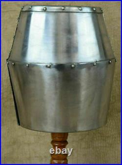 Halloween Medieval Knight Templar Helmet 18 Gauge Solid Helmet Steel Helmet Gift