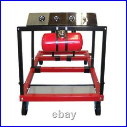 Heavy Duty Steel Construction Mobile Engine Testing Station With Gauge Meters