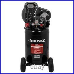 Husky Portable Air Compressor 30 gal. 175 PSI Tank Pressure Gauge Oil-Lubricated