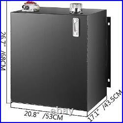 Hydraulic Reservoir Oil Tank Fuel Tank 25 Gal Steel with Filter & Temp Gauge