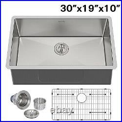 Hykolity 30 inch Kitchen Sink, 16 Gauge Undermount Single Bowl Stainless Steel