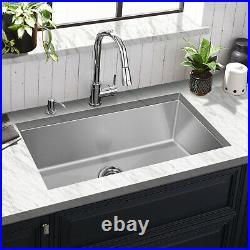 Hykolity Kitchen Sink 30 x 18 x 10 inch Undermount Stailess Steel 16 Gauge