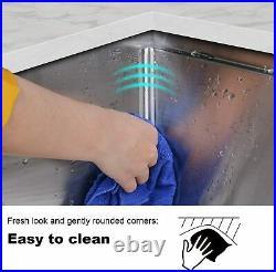 Hykolity Kitchen Sink 33 x 19 x 10 inch Undermount Stailess Steel 16 Gauge