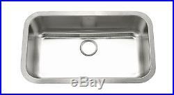 KE Stainless Steel Kitchen Sink Undermount Large Single 16 Gauge 9 Deep Bowl