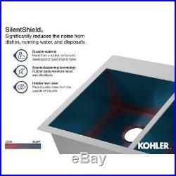KOHLER Drop-in Kitchen Sink 33 in. 1-Hole Single Bowl 18-Gauge Stainless Steel