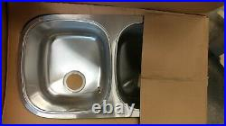 Kindred Crown Gold 9 Stainless Steel Silk Double Basin Sink QDF1731/9 18 Gauge