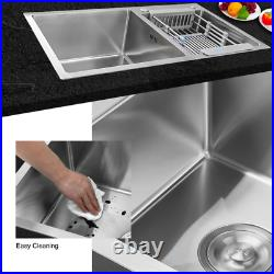 Kitchen Sink 32 x 18 x 9 Stainless Steel Double Bowl Sink Topmount 16 Gauge