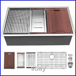 Lordear 33x19 Undermount Kitchen Sink 16 Gauge Stainless Steel Single Bowl