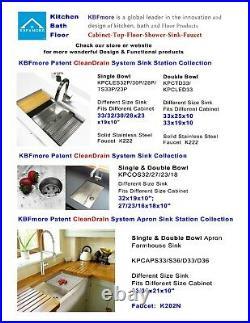 Luxury Thick 16 Gauge Undermount Stainless Steel Kitchen Sink 32 inch 60/40