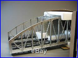MTH REALTRAX 2 TRACK STEEL ARCH DOUBLE BRIDGE SILVER o gauge train 40-1107 NEW