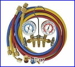 Mastercool 66661-AYF Dual 134A AND 1234YF Brass Manifold Gauge Set Brand New