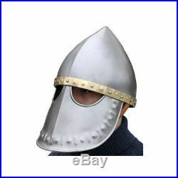 Medieval Arm Helmet Norman Helmet 18 gauge steel Medieval Helmet Halloween Gift