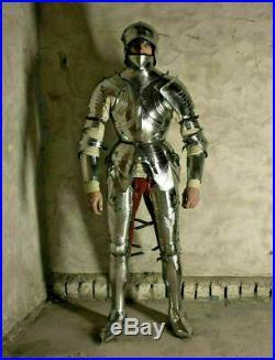 Medieval German Armour Suit Plate Gothic Warrior Armour 18 Gauge Steel