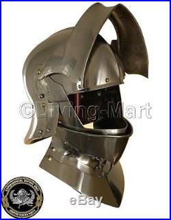 Medieval German Sallet Helmet European Closehelm Collectible Sca 16 gauge