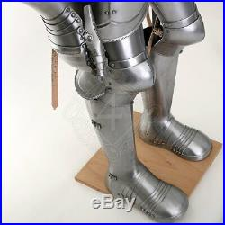 Medieval German Suit of Armor 16th Century Warrior armor Suit 18gauge Steel