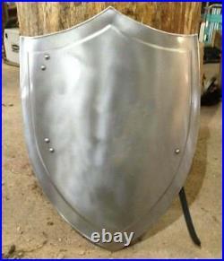 Medieval Heater Shield SCA Larp Armour Shield 18 Gauge Steel