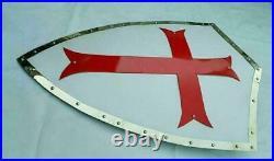 Medieval Knight Cross Heater Shield Battle Warrior Shield 18 Gauge Steel