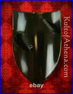 Medieval Left Handed Steel Heater Shield Blank 18 Gauge Steel Battle Ready fr