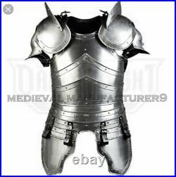 Medieval Wearable Knight Half Suit of Armor 18 Gauge Steel Cuirass Breastplate