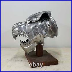 Medieval Wolf Armor Helmet 18 Gauge Battle Ready Premium Gothic Helmet