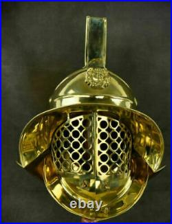 Medieval murmillo gladiator helmet 18 gauge steel fabri knight armor sca larp