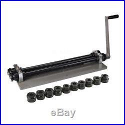 Metal Bead Roller Steel Gear Drive Bench Mount Rolling Tool 18-Gauge Capacity