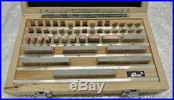 Metric Steel Gauge Block 47pcs/set, Grade 1 with Certificate
