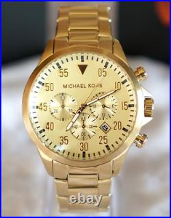 Michael Kors Men's Gage Chronograph Gold-Tone Stainless Steel Watch MK8491