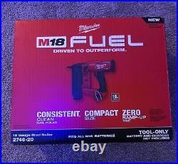 Milwaukee 2746-20 M18 Fuel 18 Gauge Brad Nailer. Brand New. Tool Only