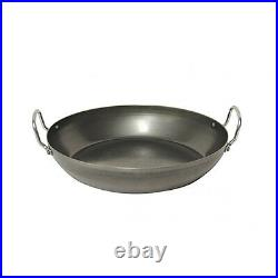 NEW Pyrolux Industry Blue Steel 1.5mm Gauge Commercial Quality 40cm Paella Pan