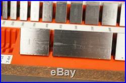 NEW Starrett Webber SS81. A1 81pc A1 GRADE Square Steel Gage Block Set $3045 USD