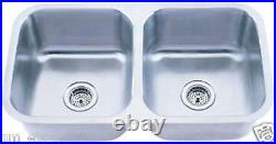 New 18 Gauge 9 Deep Double Bowls Stainless Steel Sink