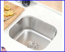 New 18 x 18 x 8 Stainless Steel Under Mount Kitchen /Bar/ Prep Sink 18 Gauge