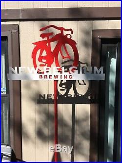 New Belgium Fat Tire Beer Heavy Gauge Steel Dominator Sign Brand New