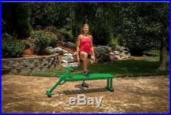 Outdoor Fitness Bench Exercise Weight Lifting Equipment Heavy Gauge Steel