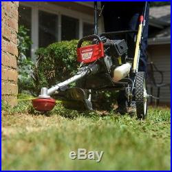 Outdoor Gas String Trimmer Mower Wheeled Recoil Start 12 Gauge Steel 2 Cycle