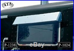 Outlaw Customs Peterbilt 16 gauge stainless rear window 7 drop visor P-1024