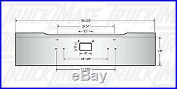 Peterbilt 379 378 357 20 Chrome Bumper Boxed Texas Square, Heavy 7 Gauge Steel