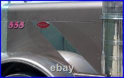 Peterbilt 379 Hood Emblem Trim 16 Gauge Stainless Steel