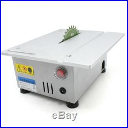 Portable Table Top Saw Compact Cutting Machine Wood Work Small Gauge Tool Blade