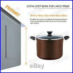 Primart 33 In 16 Gauge Single Bowl Topmount Stainless Steel Drop-In Kitchen Sink