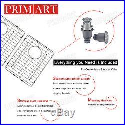 Primart 33 X 22 inch 16 Gauge Double Bowls Stainless Steel Kitchen Sinks drop in