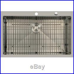 Primart 33x22 Inch 16 Gauge Single Bowl Stainless Steel Top mount Kitchen Sinks